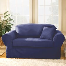 Twill Supreme Loveseat Slipcover