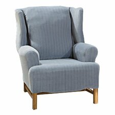 <strong>Sure-Fit</strong> Stretch Pinstripe Wing Chair Slipcover