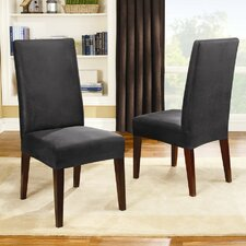 <strong>Sure-Fit</strong> Stretch Leather Short Dining Chair Slipcover