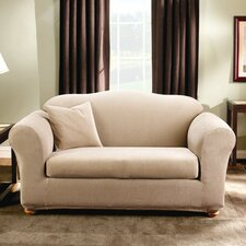 <strong>Sure-Fit</strong> Stretch Stripe Two Piece Sofa Slipcover