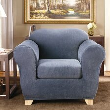 <strong>Sure-Fit</strong> Stretch Stripe Two Piece Chair Slipcover
