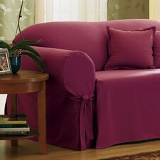 <strong>Sure-Fit</strong> Cotton Duck Loveseat Skirted Slipcover