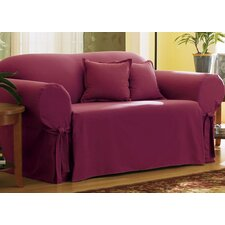 <strong>Sure-Fit</strong> Cotton Duck Sofa Skirted Slipcover