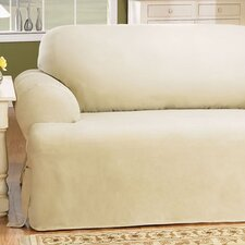 <strong>Sure-Fit</strong> Cotton Duck Sofa T-Cushion Slipcover