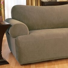 <strong>Sure-Fit</strong> Stretch Pique Loveseat T-Cushion Slipcover