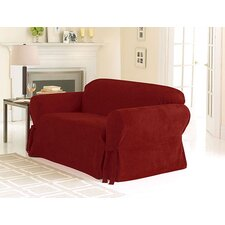 <strong>Sure-Fit</strong> Soft Suede Sofa Skirted Slipcover