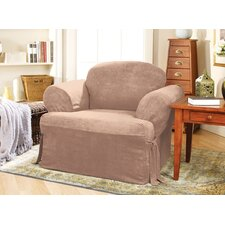 <strong>Sure-Fit</strong> Soft Suede Club Chair T-Cushion Slipcover