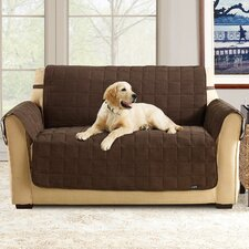 <strong>Sure-Fit</strong> Quilted Soft Suede Pet Sofa Cover