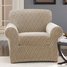 <strong>Sure-Fit</strong> Stretch Braid Club Chair Slipcover