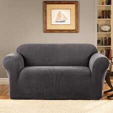 Stretch Metro 1-Piece Loveseat Slipcover