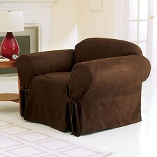 <strong>Sure-Fit</strong> Soft Suede Club Chair Slipcover