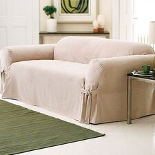 Soft Suede Loveseat Slipcover