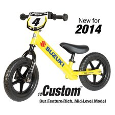 "Boy's 12"" Sport No-Pedal Suzuki Balance Bike"
