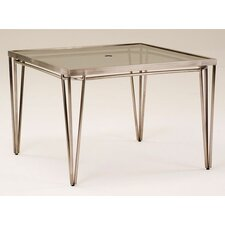 <strong>Koverton</strong> Klip Square Glass Top Dining Table with Umbrella Hole