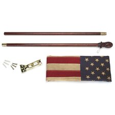 <strong>Valley Forge Flag</strong> Heritage Series Antiqued US Traditional Flag Set