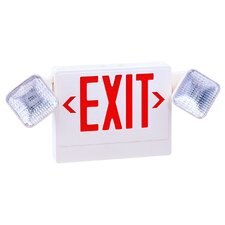 Exit/Emergency Light Combo in Red