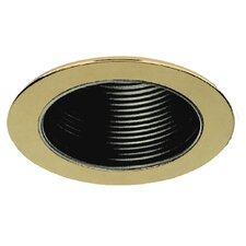"6"" Baffle with Polished Brass Trim Ring"