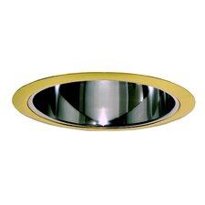 "6"" Specular with Polished Brass Trim Ring in Clear"