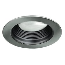 "4"" Baffle with Brushed Aluminum Trim Ring"