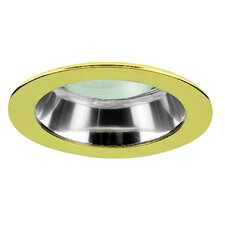 "4"" Specular Cone with Polished Brass Trim Ring"
