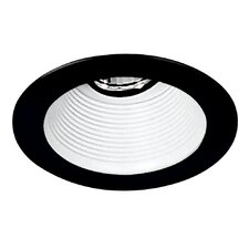 "4"" Baffle with Black Trim Ring in White"