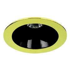 "4"" Specular Cone with Polished Brass Trim Ring in Black"