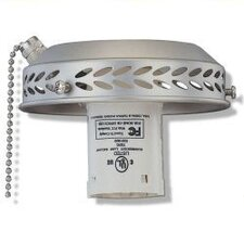 13W Single Light Fitter in Brushed Pewter