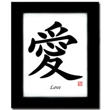 Love Calligraphy Framed Textual Art