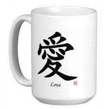 Chinese Traditional Calligraphy Love 15 oz. Coffee / Tea Mug (Set of 4)