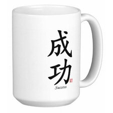 Chinese Traditional Calligraphy Success 15 oz. Coffee / Tea Mug (Set of 4)