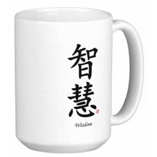 Chinese Traditional Calligraphy Wisdom 15 oz. Coffee / Tea Mug (Set of 4)