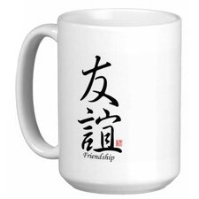 <strong>Oriental Design Gallery</strong> Chinese Stylish Calligraphy Friendship 15 oz. Coffee / Tea Mug