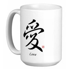 Chinese Stylish Calligraphy Love 15 oz. Coffee / Tea Mug