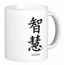 Chinese Traditional Calligraphy Wisdom 11 oz. Coffee / Tea Mug (Set of 4)