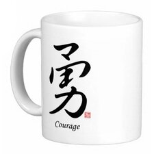 <strong>Oriental Design Gallery</strong> Chinese Stylish Calligraphy Courage 11 oz. Coffee / Tea Mug