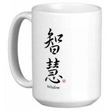 Chinese Stylish Calligraphy Wisdom 15 oz. Coffee / Tea Mug