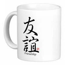 <strong>Oriental Design Gallery</strong> Chinese Stylish Calligraphy Friendship 11 oz. Coffee / Tea Mug