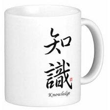 Chinese Stylish Calligraphy Knowledge 11 oz. Coffee / Tea Mug (Set of 4)