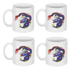 Chinese Dragon 11 oz. Coffee / Tea Mug (Set of 4)