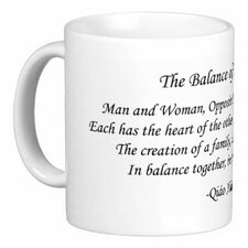 Chinese Love Poem Balance of Tiao He 11 oz. Coffee / Tea Mug
