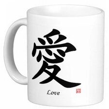 <strong>Oriental Design Gallery</strong> Chinese Traditional Calligraphy Love 11 oz. Coffee / Tea Mug