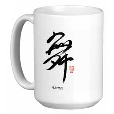 <strong>Oriental Design Gallery</strong> Chinese Calligraphy Dance 15 oz. Coffee / Tea Mug
