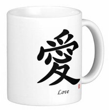Chinese Traditional Calligraphy Love 11 oz. Coffee / Tea Mug (Set of 4)