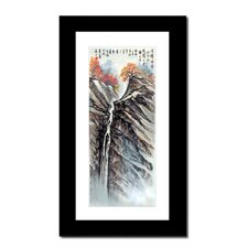 Mountain Waterfall by Lin Hung Tsung Framed Painting Print