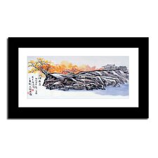 Hilltop Village by Lin Hung Tsung Framed Painting Print