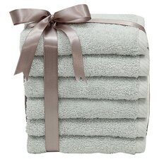 <strong>Linum Home Textiles</strong> Soft Twist 100% Turkish Cotton Wash Cloth (Set of 6)