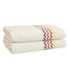 Montauk Zig Zag Bath Towel Set (Set of 2)