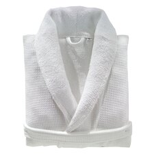 100% Turkish Cotton Unisex Waffle Weave Terry Bathrobe