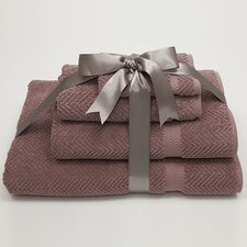 <strong>Linum Home Textiles</strong> Luxury Hotel & Spa Herringbone Weave 100% Turkish Cotton 4 Piece Towel Set