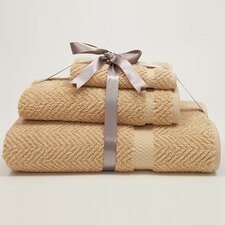 Herringbone Weave 100% Turkish Cotton 3 Piece Towel Set